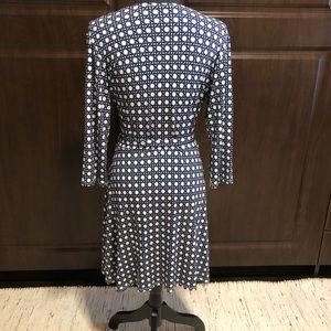 Dariah Printed Faux Wrap Dress